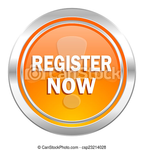 register now icon - csp23214028