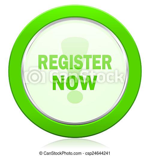 register now icon - csp24644241