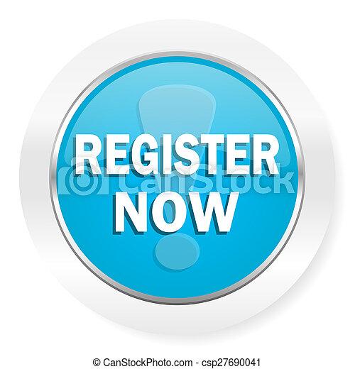 register now icon - csp27690041