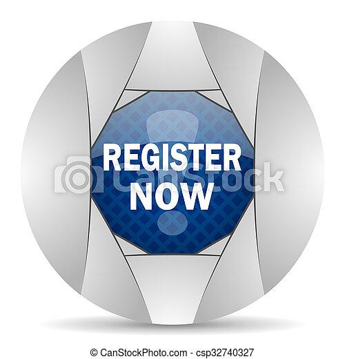 register now icon - csp32740327