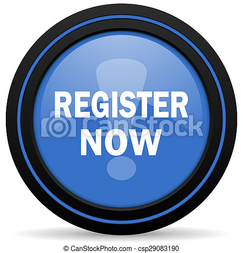 register now icon - csp29083190