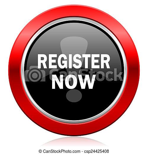 register now icon - csp24425408