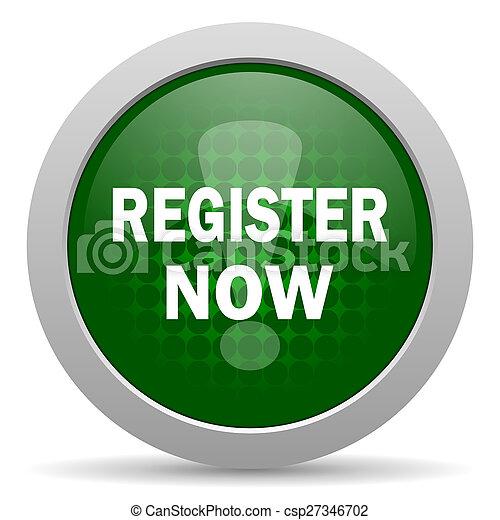 register now icon - csp27346702