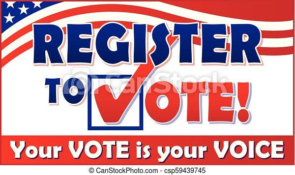 Register to Vote - csp59439745