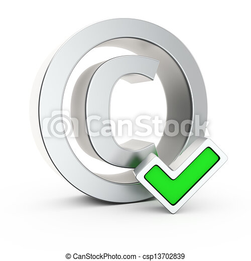 Registered Copyright Metallic Copyright Symbol With Small