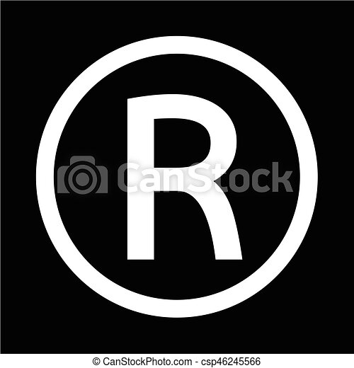 registered trademark icon vector illustration