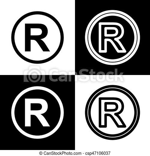 how to make registered symbol