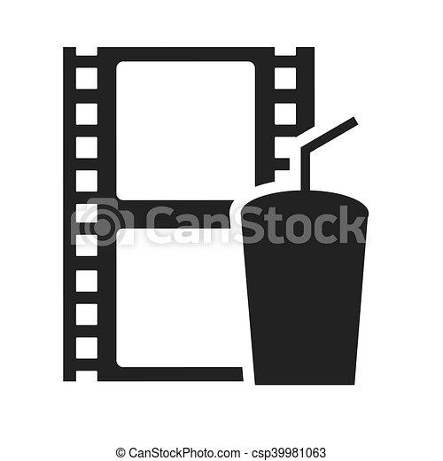 Registro Cinema Fita Icone Cinema Ilustracao Registro