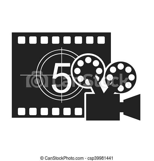 Registro Contador Fita Icone Cinema Cinema Contador
