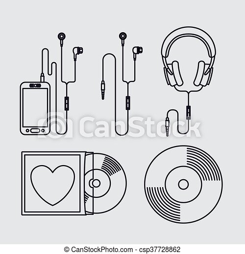 Registro Desenho Musica Grafico Eps10 Ilustracao Registro