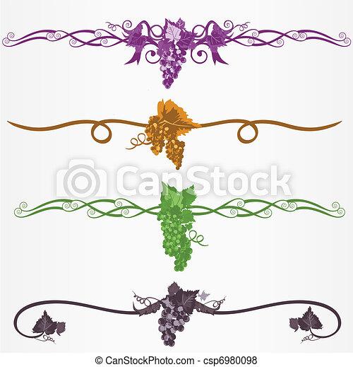 Regla ruleline o decoraciones p gina uvas hojas - Paginas web de decoracion ...
