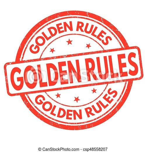 Reglas de oro firman o sello - csp48558207