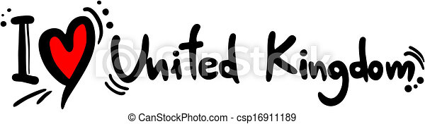 regno, unito, amore - csp16911189