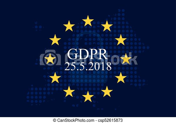 Regla de protección general (GDPR) - csp52615873