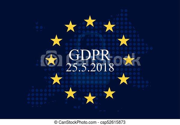 regulamento, proteção, dados, (gdpr), geral - csp52615873