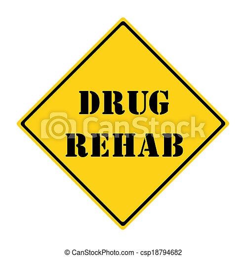 rehab, medicijn, meldingsbord - csp18794682