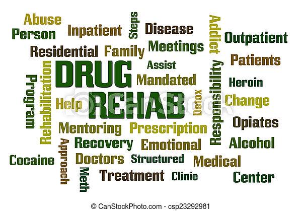 rehab, medicijn - csp23292981