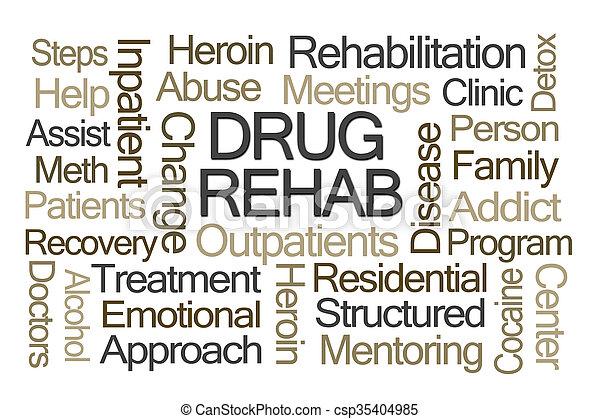 rehab, woord, medicijn, wolk - csp35404985