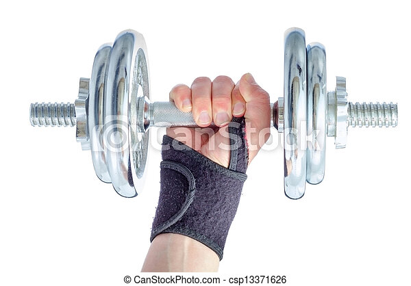 rehabilitation., handgelenk, schaden - csp13371626