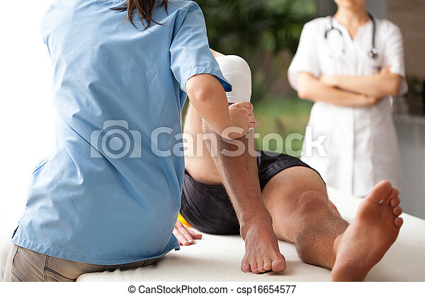 Rehabilitation of broken leg - csp16654577