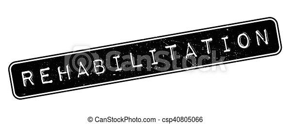 Rehabilitation rubber stamp - csp40805066