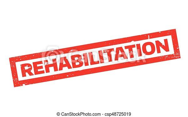 Rehabilitation rubber stamp - csp48725019