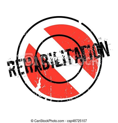 Rehabilitation rubber stamp - csp48725107