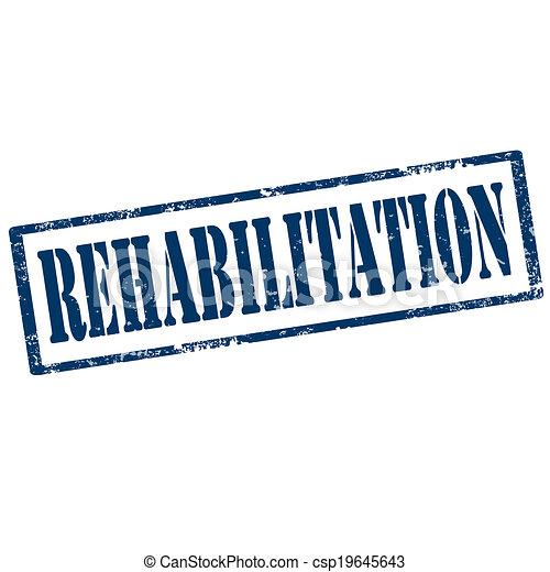 Rehabilitation-stamp - csp19645643
