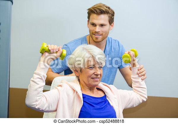 rehabilitation together - csp52488818