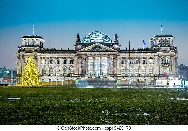 Reichstag building in Berlin - csp13429179