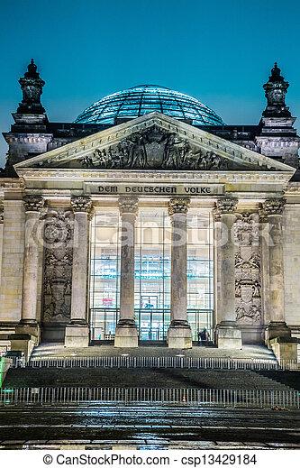 Reichstag building in Berlin - csp13429184