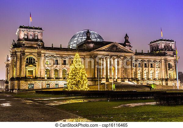 Reichstag building in Berlin - csp16116465