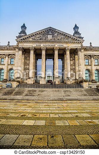 Reichstag building in Berlin - csp13429150