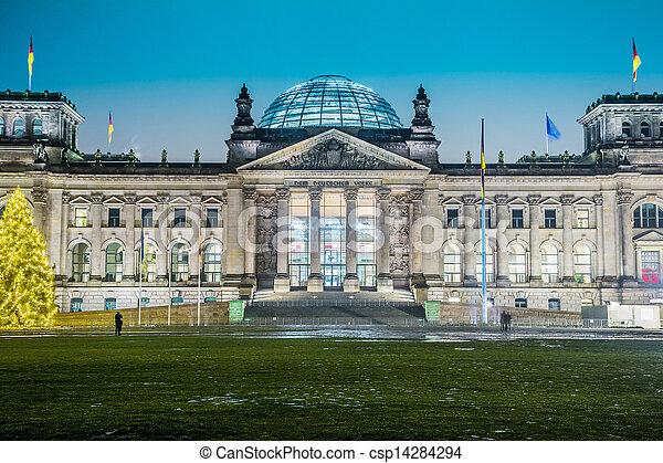 Reichstag building in Berlin - csp14284294