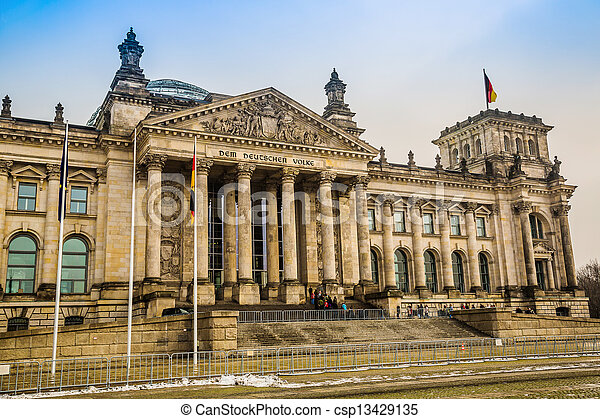 Reichstag building in Berlin - csp13429135