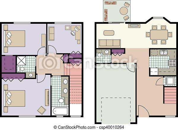 Reihenhaus, Plan   Csp40010264