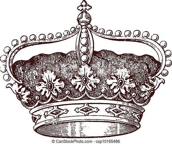Rey Medieval Reina Corona O Tocado Viejo Diadem Heráldico