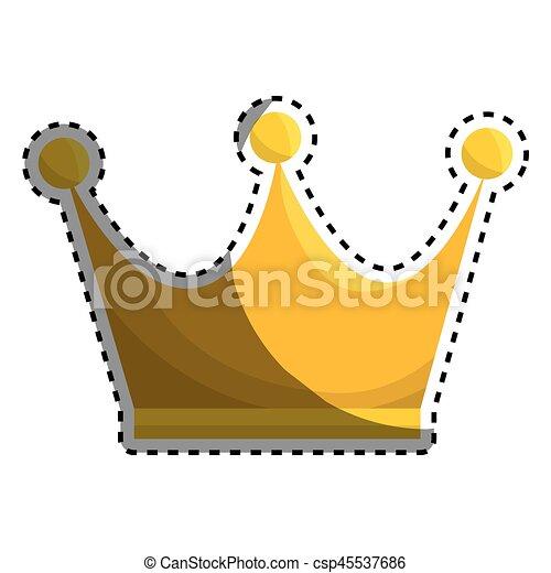 Reina Corona Oro Icono Oro Reina Corona Ilustración Vector