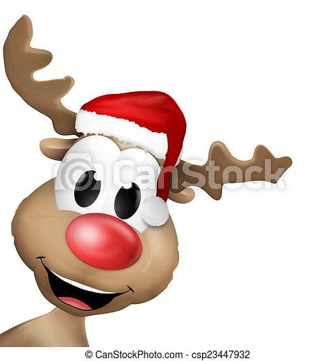reindeer christmas cute animal illustration reindeer drawings rh canstockphoto com  cute christmas reindeer clipart