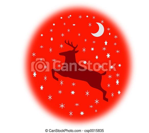 Reindeer In The Sky - csp0015835