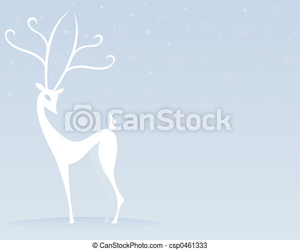 Reindeer in White - csp0461333