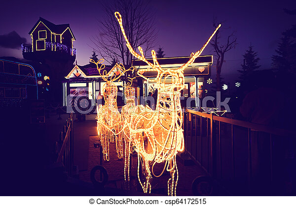 reindeer light bulb in Christmas day - csp64172515