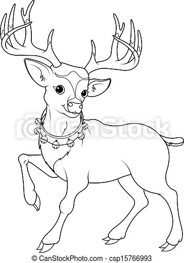 Reindeer Rudolf Coloring Page Coloring Page Of Cartoon
