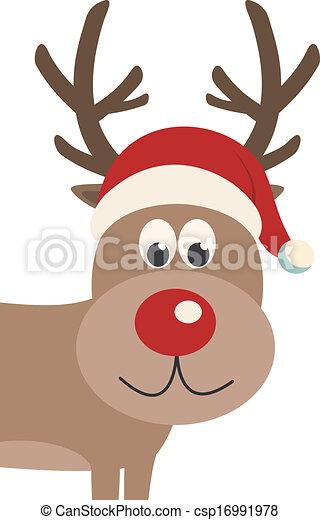 ded21d9321059 reindeer santa hat isolated - csp16991978