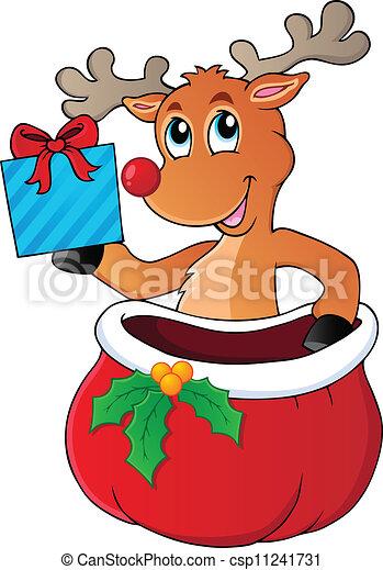 Reindeer theme image 6 - csp11241731