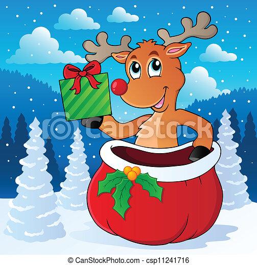 Reindeer theme image 7 - csp11241716