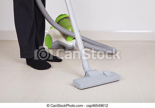 Reiniger Frau Boden Putzen Vakuum Beine Reiniger Frau Boden