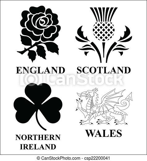 emblemas del Reino Unido - csp22200041