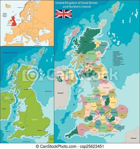 Mapa del Reino Unido - csp25623451