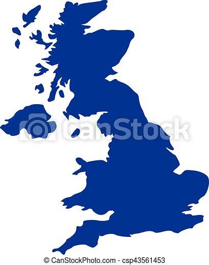 Mapa del Reino Unido - csp43561453